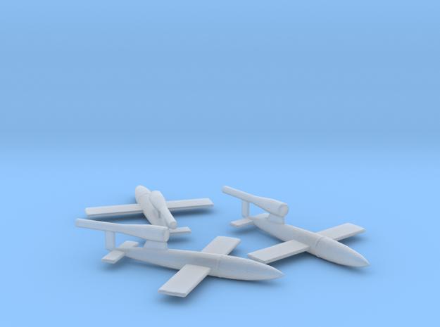 V-1 Flakzielgerät 76 Flying Bomb 1/285 x3 FUD in Smooth Fine Detail Plastic
