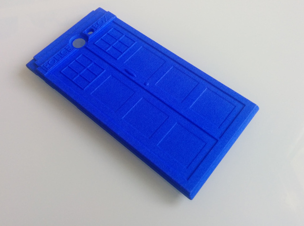 The Other Side Police Box for Jolla Phone in Blue Strong & Flexible Polished