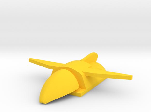 Endo/Exo-Atmospheric Shuttle in Yellow Processed Versatile Plastic