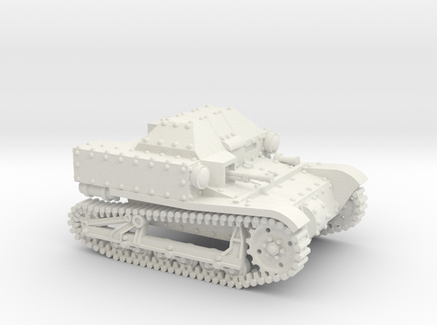 T27a Tankette (20mm) in White Natural Versatile Plastic
