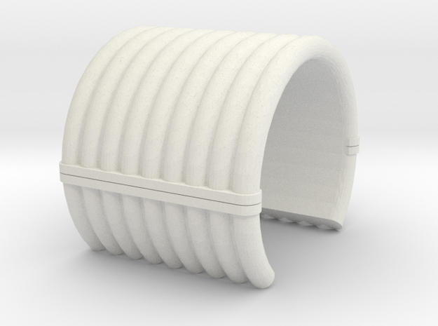 "Collar Ring v1 - 1"" Dia. in White Natural Versatile Plastic"