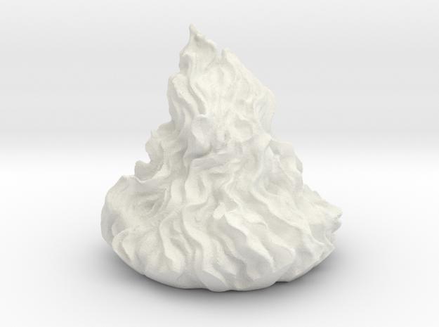 Flames for Demonic Brazier in White Natural Versatile Plastic