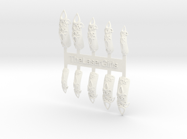 Castle Nails (Size 3)  3d printed