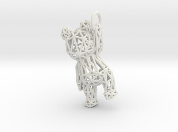 Teddy Bear pendant - ring, edges - 60mm