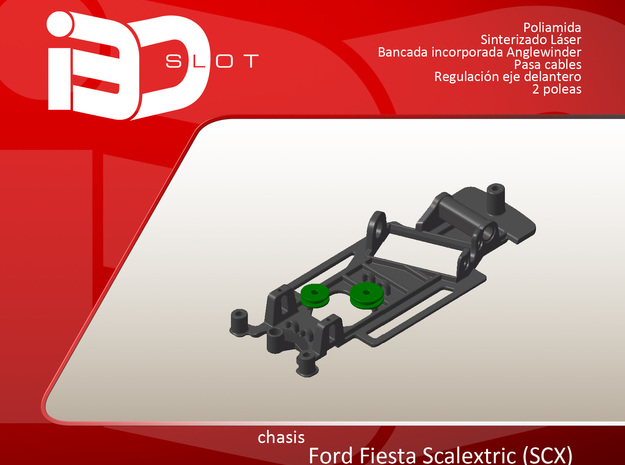 Chasis para Ford Fiesta scx in White Strong & Flexible