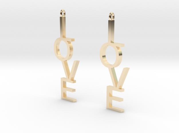 Love Earrings Large  3d printed