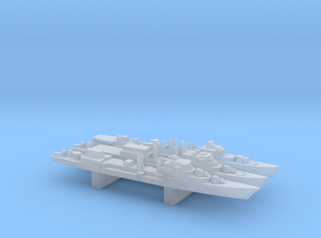 Late T53 Class Destroyer Set, 3pc, 1/6000 in Smooth Fine Detail Plastic
