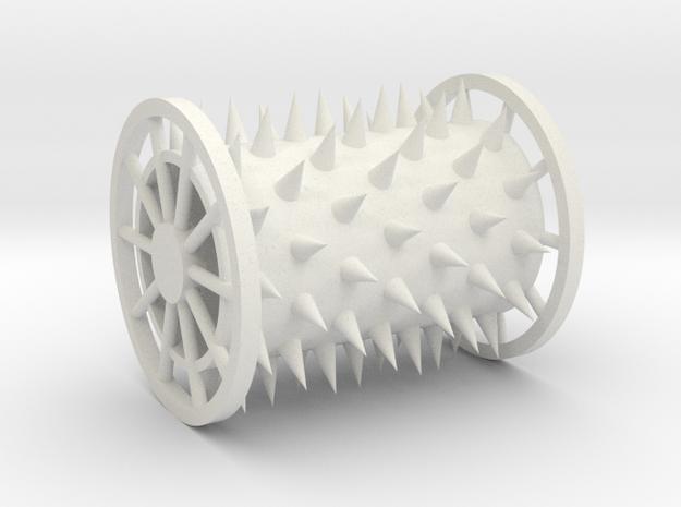 Trap Roller in White Natural Versatile Plastic