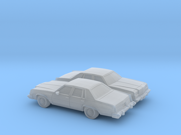 1/160 2X 1977-78 Buick Electra Sedan in Frosted Ultra Detail