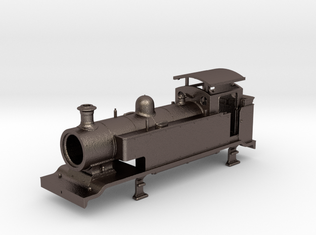 LB&SCR E2  - EXTENDED TANKS - Body (METAL) in Polished Bronzed Silver Steel