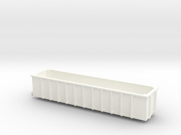 N Gauge JUA 100 Tonne Bogey Tippler Wagon (OUTER) in White Strong & Flexible Polished