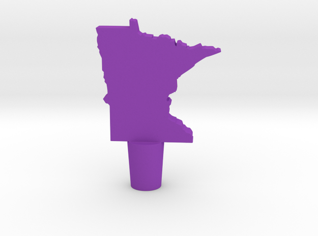 Wine Stopper of Minnesota in Purple Strong & Flexible Polished