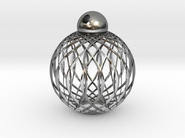 Radials Pendant 3d printed