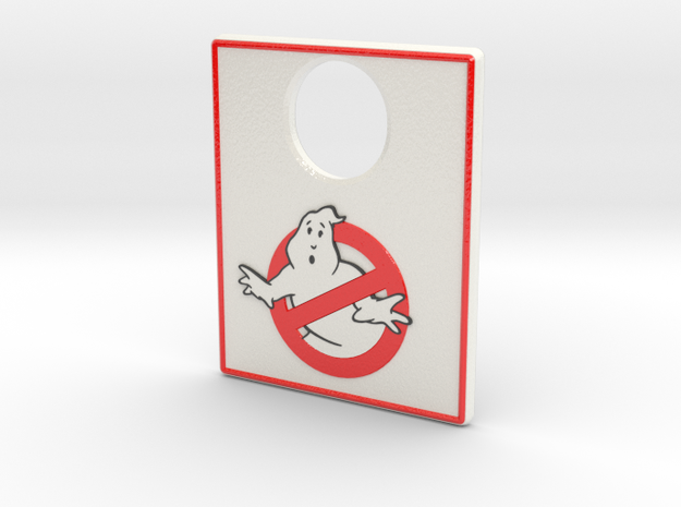 Pinball Plunger Plate - Spooky 3 in Glossy Full Color Sandstone