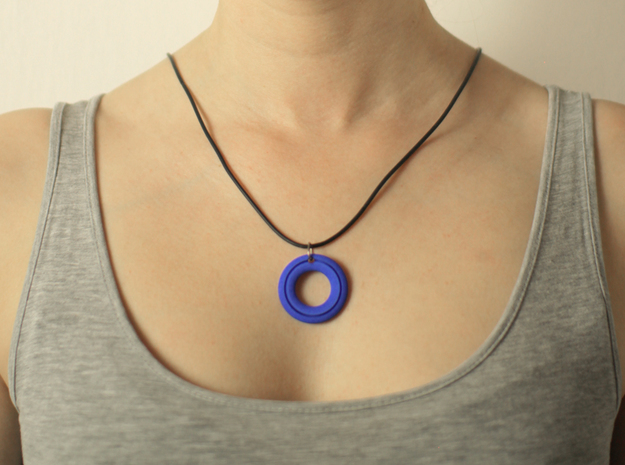 Pendant01-Slot in Blue Strong & Flexible Polished