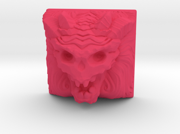Demon Keycap (Topre DSA) in Pink Processed Versatile Plastic