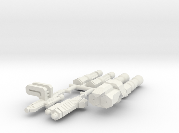 6mm Weapon Sprue A in White Strong & Flexible
