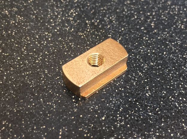 Mounting Block in Polished Bronzed Silver Steel