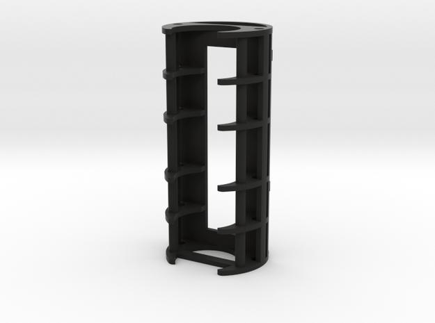 "1.24"" 18650/PRIZM Holder in Black Natural Versatile Plastic"
