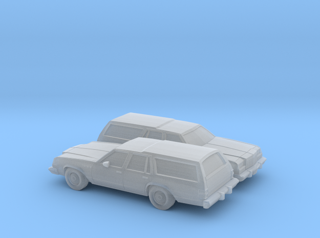 1/160 2X 1977-78 Buick Estate Station Wagon in Frosted Ultra Detail