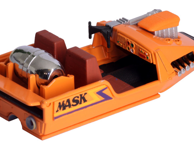 M.A.S.K. Gator Speedboat Dashboard in Orange Processed Versatile Plastic