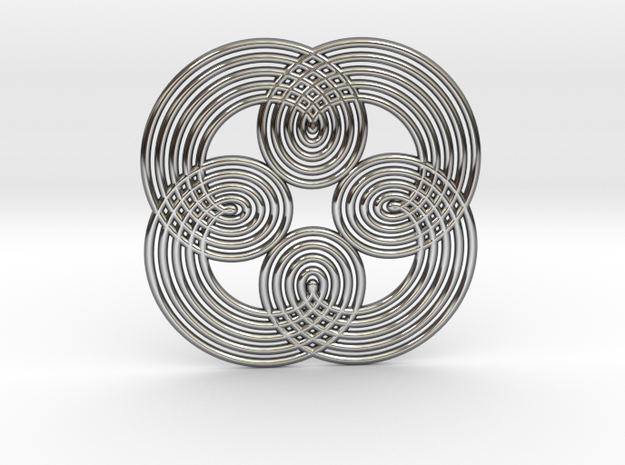 0544 Motion Of Points Around Circle (5cm) #021 in Premium Silver