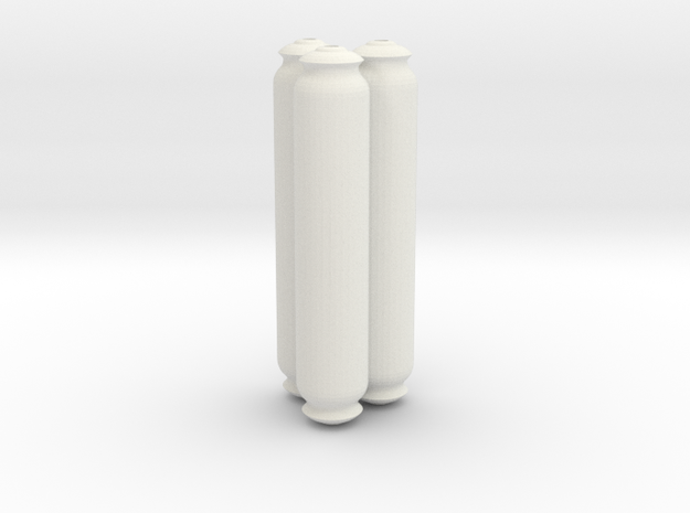 Power Cell Capacitors 3 Assembled in White Natural Versatile Plastic
