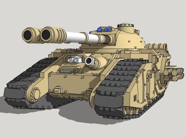 6mm Claymore Superheavy Sci-Fi Tank in Smooth Fine Detail Plastic