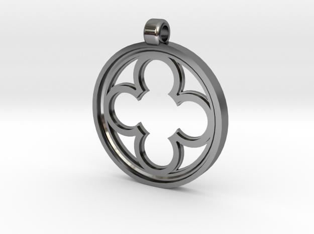 Rosette Mini in Premium Silver