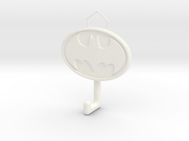 Batman Logo hook in White Strong & Flexible Polished
