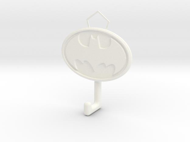 Batman Logo hook in White Processed Versatile Plastic