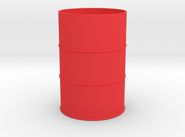 1/14 Scale 205 Ltr Drum (54 Gal) in Red Processed Versatile Plastic