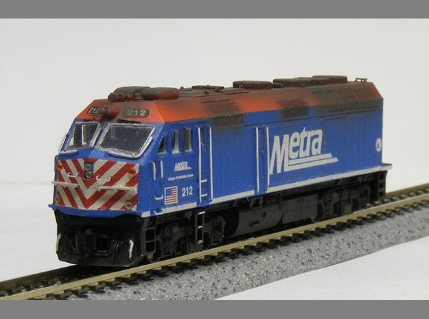 N Scale EMD F40PHM-2 (Metra) in Smooth Fine Detail Plastic