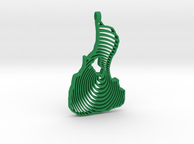 3D Printed Bi Circle Keychain