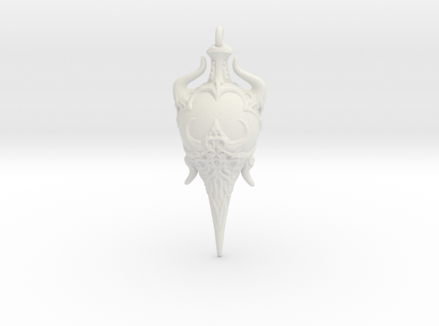 Chaos Amulet 01 - 50mm in White Natural Versatile Plastic
