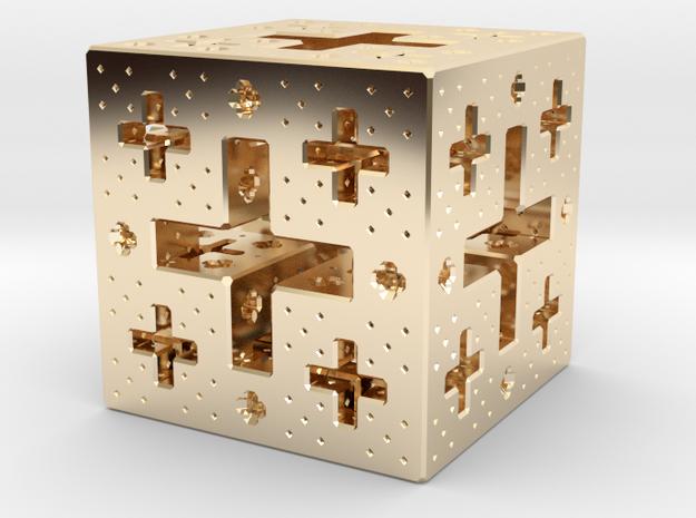 Jerusalem Cube Fractal Pendant 3d printed