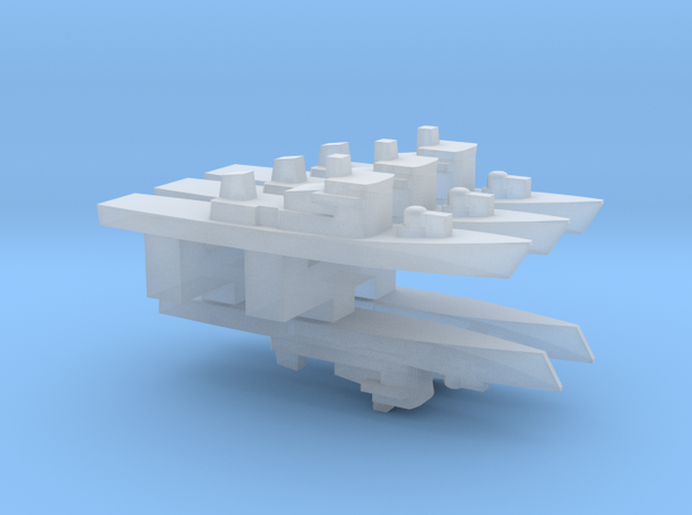 Peacock-Class Corvette x 5, 1/6000 in Frosted Ultra Detail