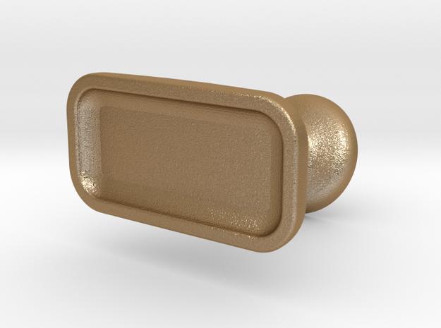 Custom cufflink #05 - Flat in Matte Gold Steel