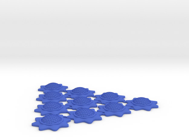Stackable Shield Token 10 Pack X-Wing Miniatures in Blue Processed Versatile Plastic