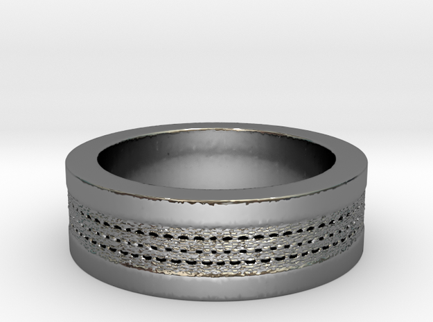 My Awesome Ring Design Ring Size 7 in Fine Detail Polished Silver