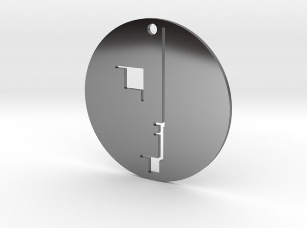 Bauhaus Austelling Pendant in Fine Detail Polished Silver