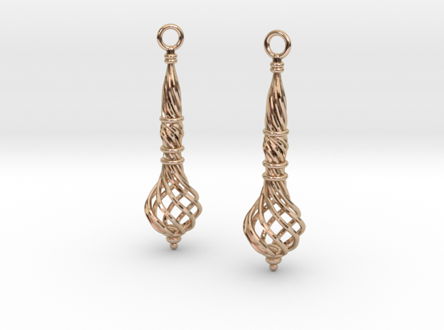 Bound Coil Earrings in 14k Rose Gold Plated Brass