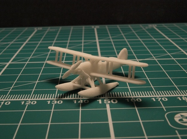 Fairey Gordon and Seal set (two airplanes) 1/285 in White Natural Versatile Plastic