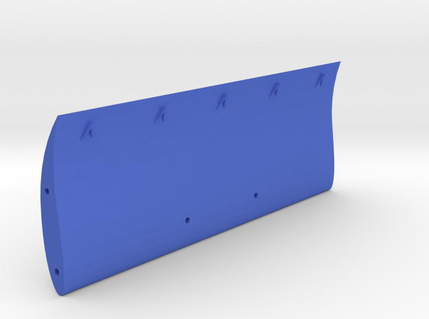 "Speed Run ""High down-force"" rear wing, V2 **Vortex in Blue Processed Versatile Plastic"