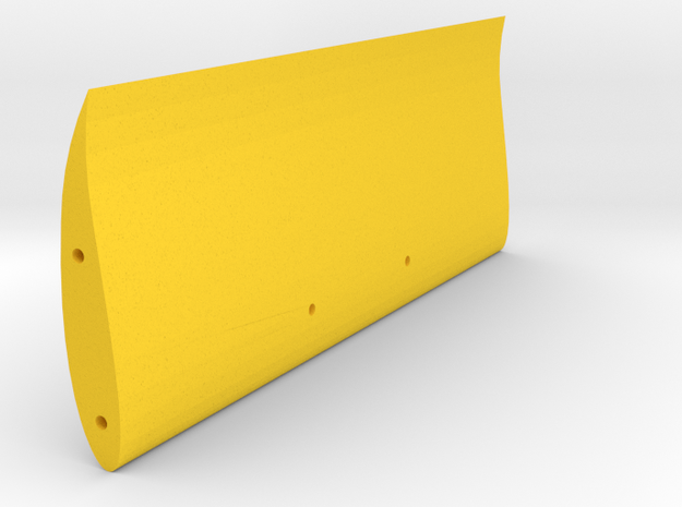 """Speed Run """"High Speed"""" rear wing, V1 in Yellow Strong & Flexible Polished"""