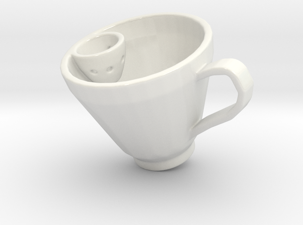 Smart Tea Cup in Gloss White Porcelain