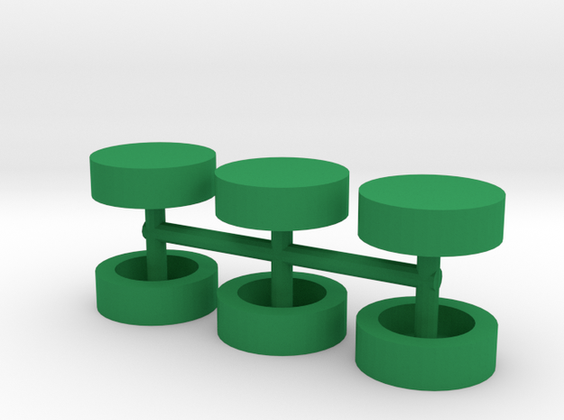 Half-inch Disc Boardgame Counters (x6) in Green Processed Versatile Plastic