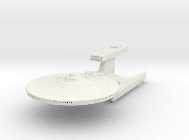 Pratchett Class Destroyer  3.7 in White Strong & Flexible