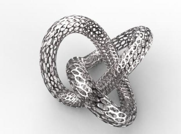 trefoil knot in White Natural Versatile Plastic