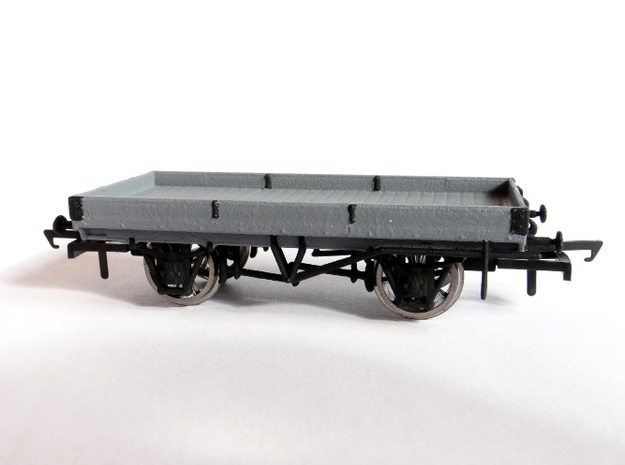 LNWR 18ft, 1 Plank Open Wagon (Diagram 103) 3d printed A (Badly) Painted Example